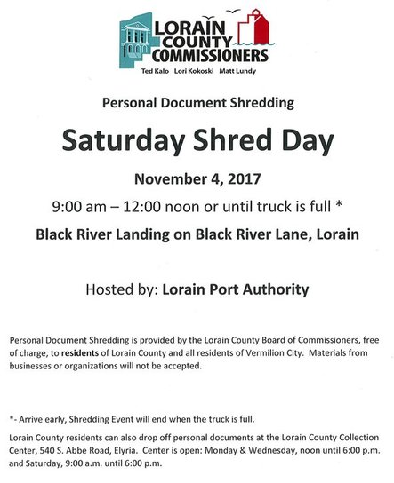 Shred Event Nov 4, 2017