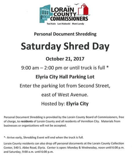 Oct 21, 2017 Shred Day